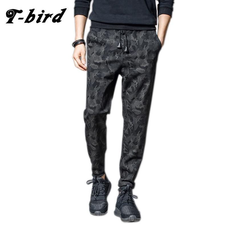 T-Bird 2018 Joggers nadrág férfiak utcai ruha álcázás nadrág pantalon homme Hip Hop férfiak kocogók pulóverek kiváló minőségű férfi nadrág
