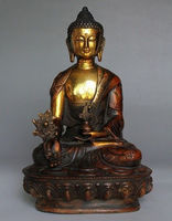 8 Tibetan Brass Buddhism Bodhisattva Sakyamuni Buddha Statue.