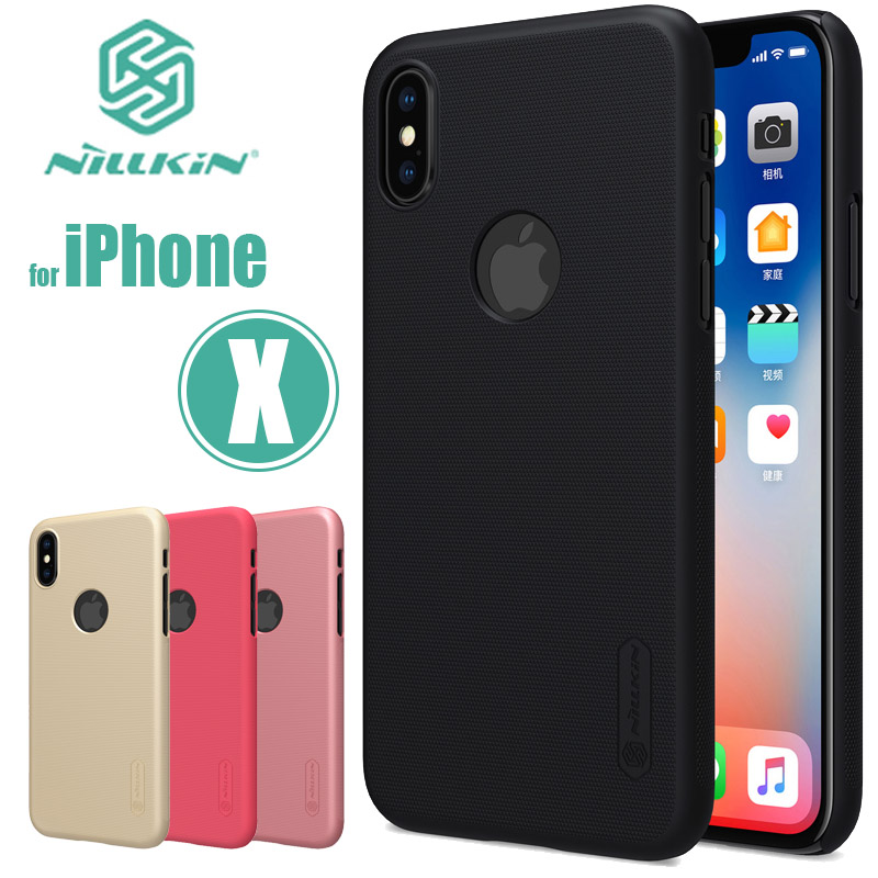 for iPhone XS X Case Nillkin Super Frosted Shield Ultra-Thin Hard Back PC Cover Nilkin Case for iPhone X XS Matte Phone Case