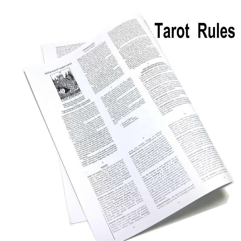 正規タロット命令、ガイドブック、英語タロットカードデッキ
