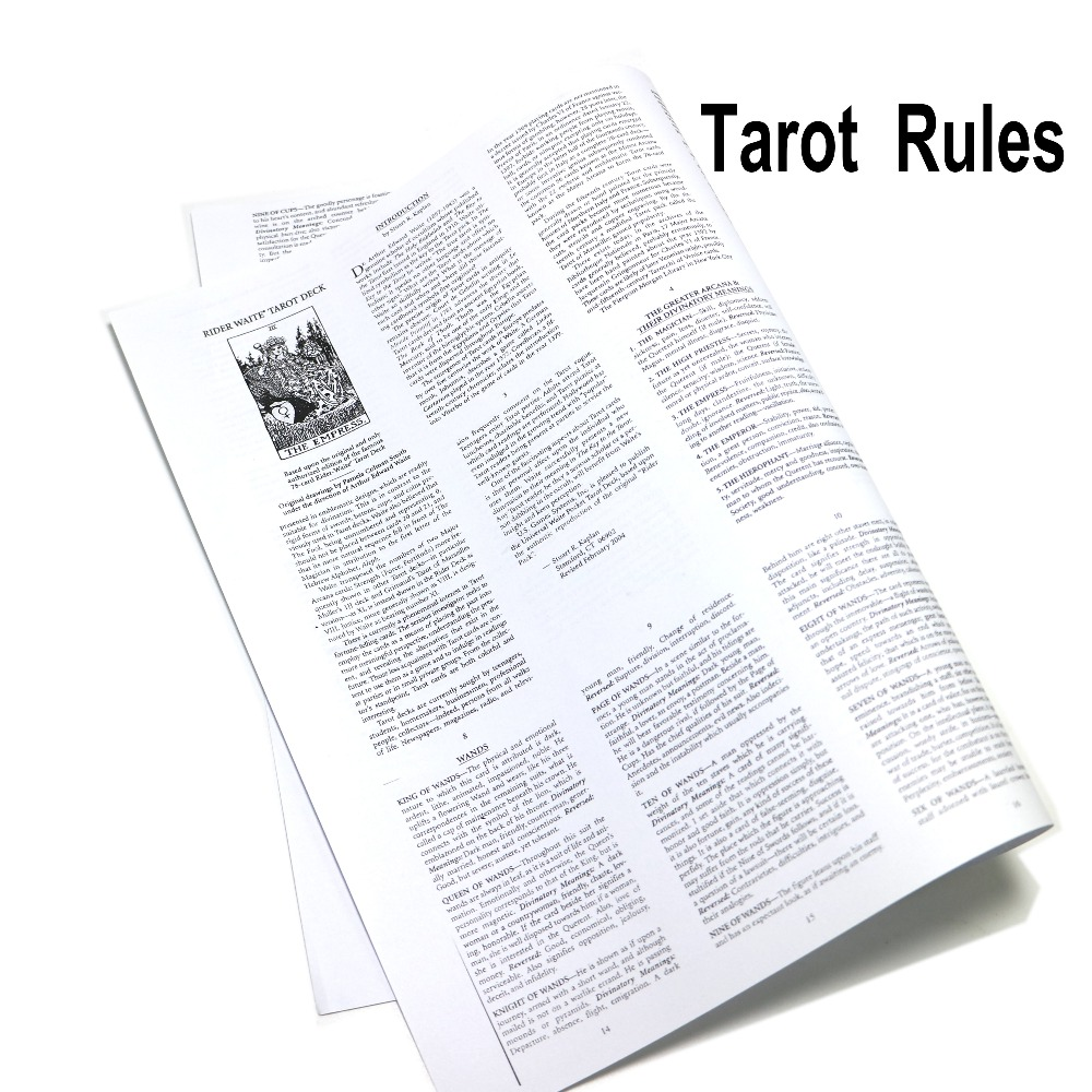 US $1 48 5% OFF|regular Tarot Instruction, guide book, English for tarot  cards deck-in Board Games from Sports & Entertainment on Aliexpress com |