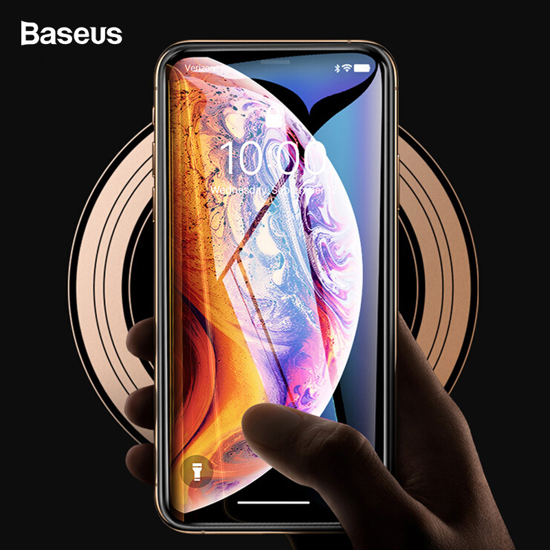 Baseus 0.3mm Screen Protector For iPhone Xs Max Xr 3D Full Cover Tempered Glass Protective Glass Film For iPhoneXs Max iPhoneXr