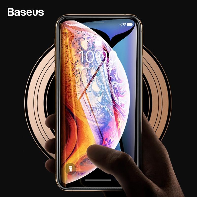 Protector de pantalla Baseus 0,3mm para iPhone Xs Max Xr Xsmax 3D cubierta de vidrio templado película protectora de vidrio para iPhoneXs Max iPhoneXr