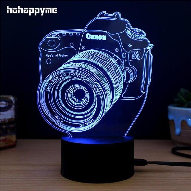 Led Sign Home Decor: Camera 3D LED Light Sign Acrylic LED Signs Home Decor Gift