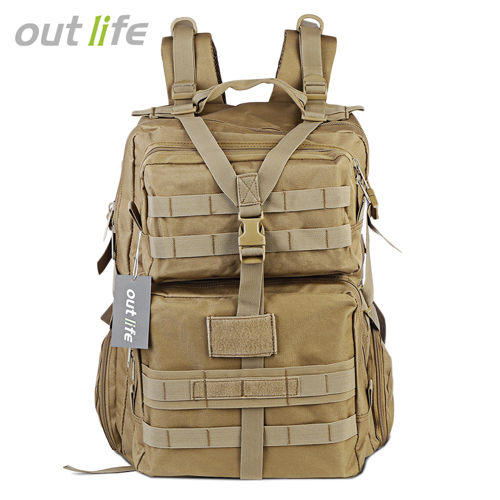Outlife 068 45L Large Capacity Military Tactical Molle Backpack Camping Trekking Hiking Backpack Waterproof Army Shoulder Bag