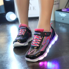 Glowing Sneakers Kids Luminous Flats Casual Shoes with Light for Kids Children Light Bright Sport