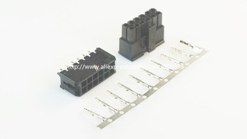 50 sets Micro-Fit  connector 3.0mm 2x6 Pin 12 P Wafer straight dual row + Receptacle Housing + terminal 43025 / 43045 / 43030
