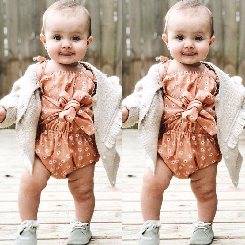 HTB1UyeLwaSWBuNjSsrbq6y0mVXat Newborn Baby Girl Strap Bowknot Floral Romper Polka Dot Jumpsuit Outfits Sunsuit