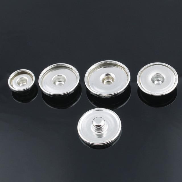 50 cái/lốc bán Hot 12 MÉT & 18 MÉT & 20 MÉT kim loại snap buttons đối với làm cho in kính snap hoặc rhinestone snap buttons Phụ Kiện DIY ZM032