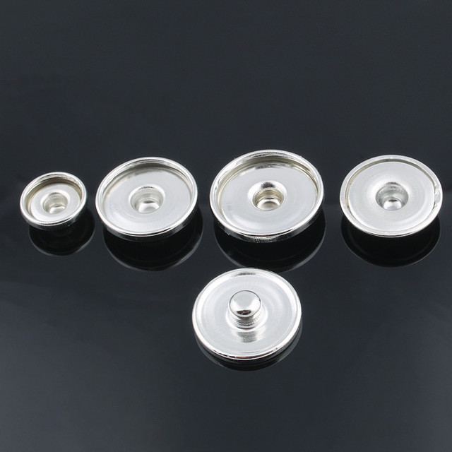 50pcs/lot Hot sale 12MM&18MM&20MM metal snap buttons for make print glass snap or rhinestone snap buttons DIY Fittings ZM032