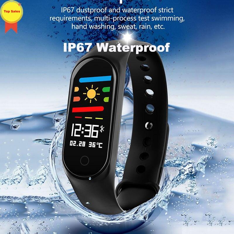 Montre intelligente de sport de traqueur de forme physique de bande intelligente de moniteur de fréquence cardiaque de pression artérielle/oxygène de bracelet pour IOS Android xiaomi vivo