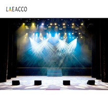 Laeacco Stage Backdrops Music Show Shiny Spotlight Speaker Party Child Portrait Photographic Backgrounds Photocall Photo Studio