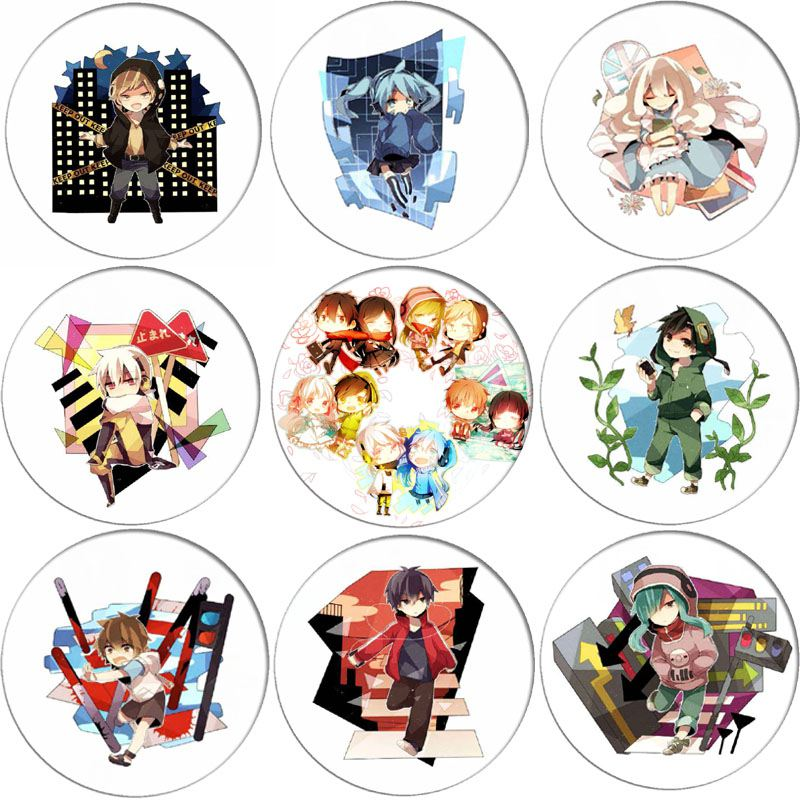 1pcs Anime MekakuCity Actors Kido Cosplay Brooch Pins Kagerou Project Q Version Cartoon Collection Badges For Backpack Clothes