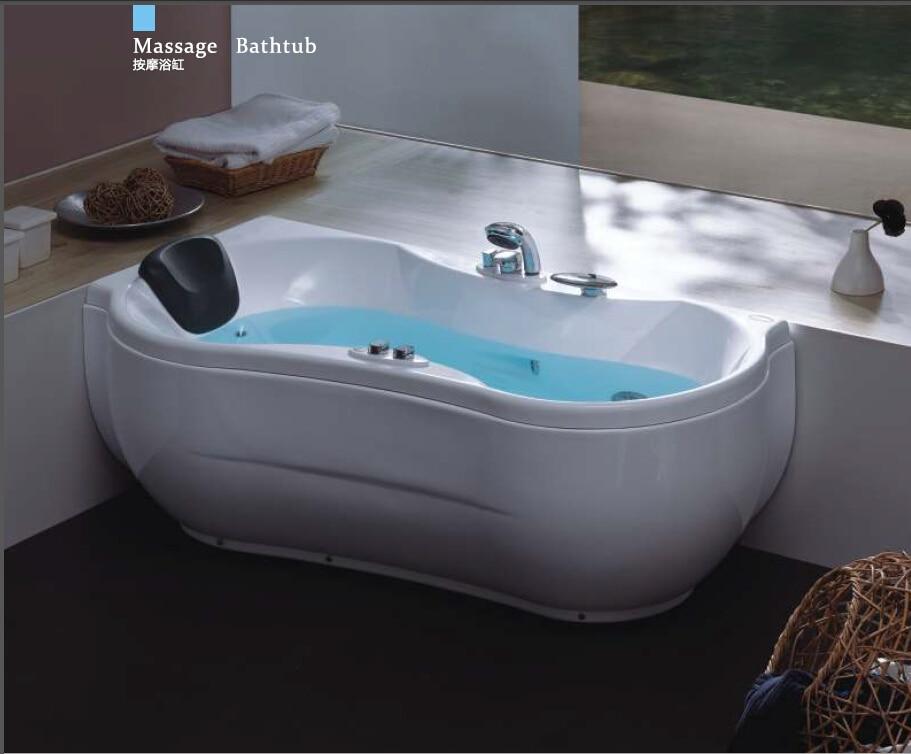 Badezimmerarmaturen Badewannen Und Whirlpools 63 Fiberglas Links Kopfstütze Whirlpool Badewanne Acryl Abs Verbundplatte Piscine Kurve Massage Bad W4009 Neueste Technik