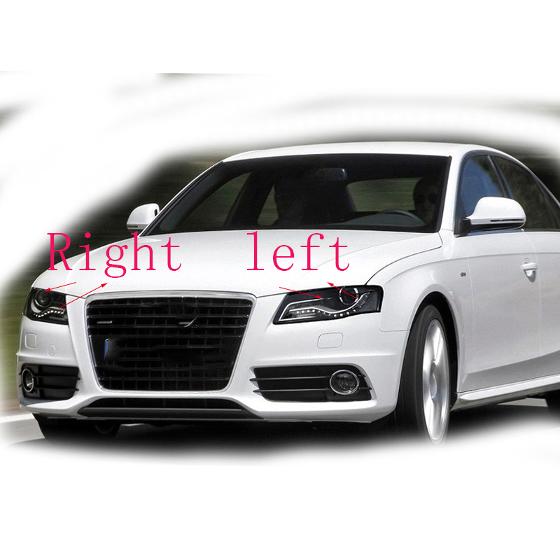 Image 5 - Front headlights headlights glass mask lamp cover transparent shell lamp  masks For Audi A4 B8 2008 2012 Free shipping 2 PCS-in Lamp Hoods from Automobiles & Motorcycles