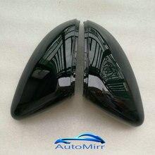 Kibowear for VW Golf 7 MK7 MK7.5 R GTI Glossy Pearl Black Side Mirror Cover Caps Polo 6R 6C for Volkswagen Golf GTE GTD Scirocco