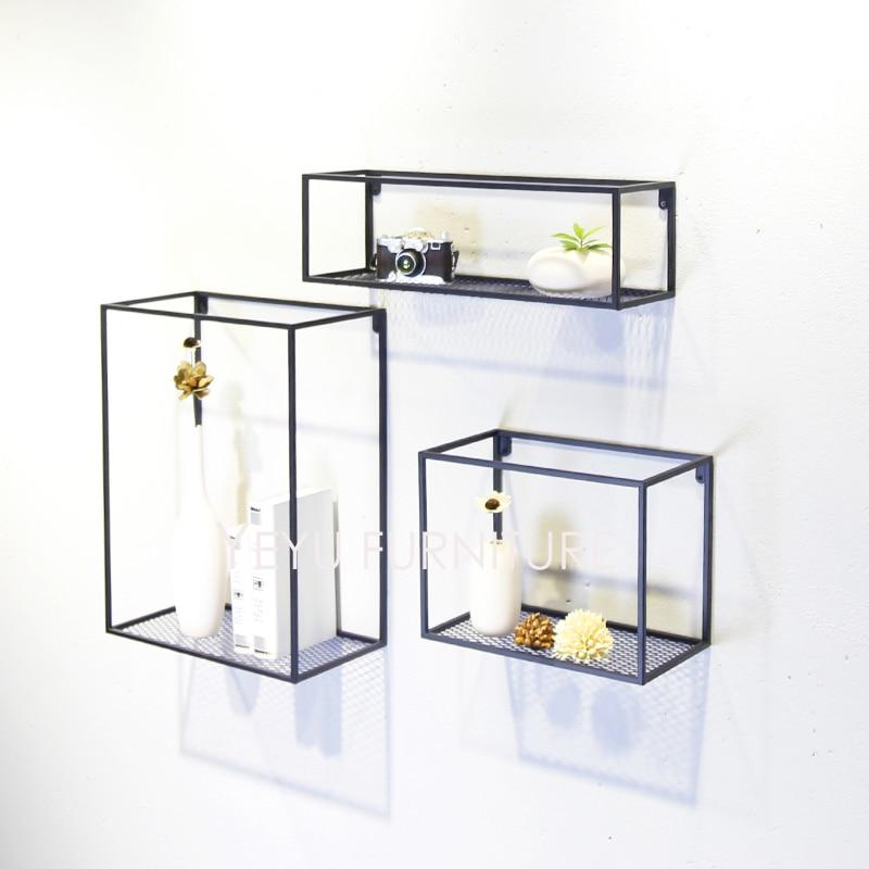 Minimalist Modern Loft Design Wall Mounted Shelf Bookshelf