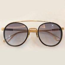 2018 Do Vintage Rodada Óculos De Sol Mulheres Oculos de sol óculos de Armação de Titânio Puro com Caixa de Embalagem Masculino dos homens Steampunk Shades