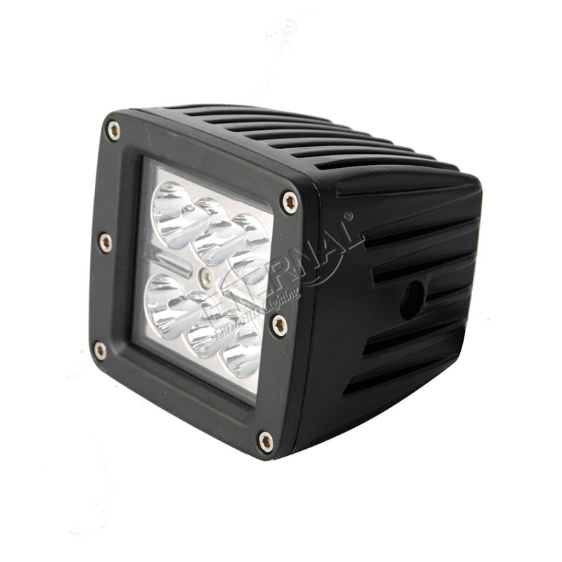 2pcs 18W led work light fog lamp cube driving headlight for jeep wrangler Rubicon Aprilia Moto off road truck 4x4 vehicles motor in Light Bar Work Light from Automobiles Motorcycles