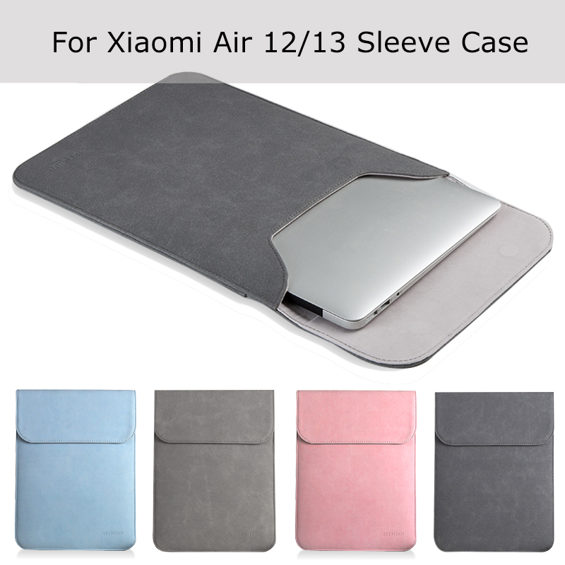 New Laptop Case Sleeve for Xiaomi Air 12 13 inch  Matte Leather Case for Xiaomi mi Notebook Air 12.5 13.3 Cover Bags xiaomi mi notebook air 12 5