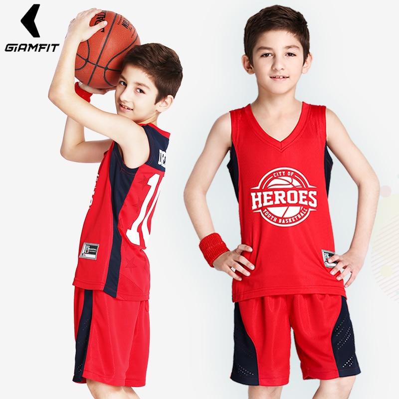 412cf3bd3 Kids Basketball Jerseys Custom for Boy Girl Sports Kit Jerseys Youth Team  Training Uniform Set Breathable