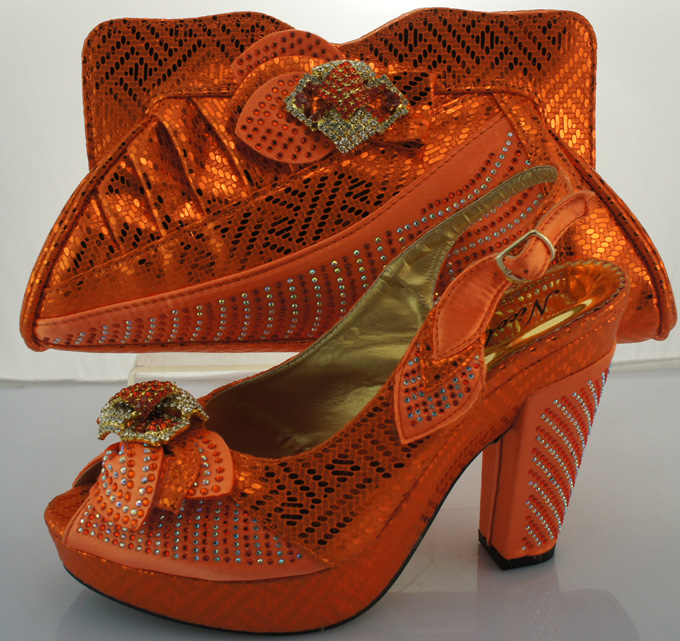 ФОТО Italian Matching Shoe And Bag Set High Heel Italian Shoe With Matching Bag Good Quality Italy Shoe And Bag Set For Party ME3302