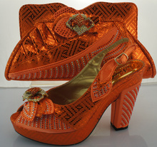 Italian Matching Shoe And Bag Set High Heel Italian Shoe With Matching Bag Good Quality Italy Shoe And Bag Set For Party ME3302