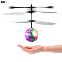 Flash Flying Ball Infrared Induction Colorful LED Disco RC Helicopter kids Toy  #T026#