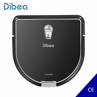 Dibea Robot Vacuum Cleaner Smart D960 With Wet Mopping Robot Aspirador Edge Cleaning Technology for Pet Hair Thin Carpets