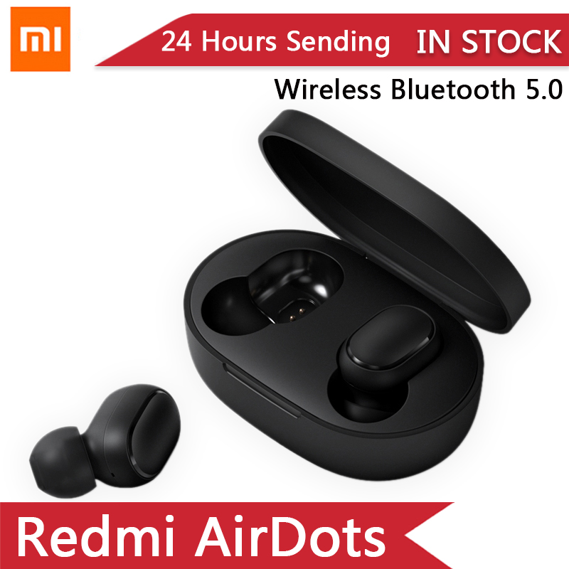 2019 New Original Xiaomi Redmi Airdots TWS True Wireless Bluetooth 5.0 Earphones Hongmi Airdots Pro Headset DSP Mic Waterproof