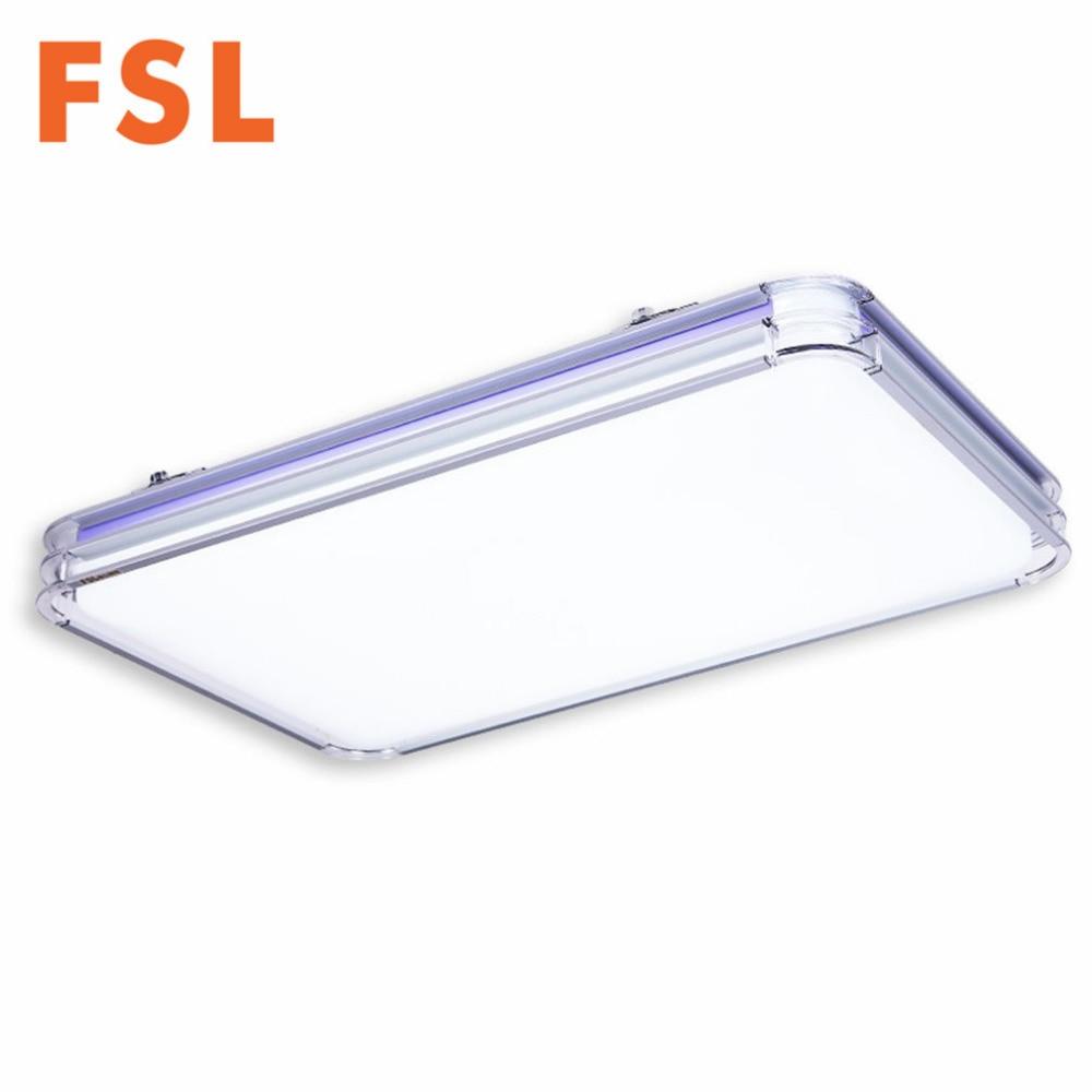 FSL 36W LED Rectangle 3 Stages Toning Lamp Ceiling Light Eye protected Dimming Lighting Aluminum Alloy Frame +Acrylic Lampshade led светильник fsl e14led led 3w