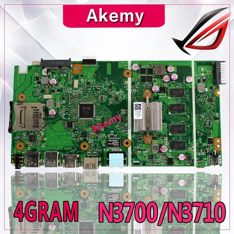 Akemy X540SA Laptop motherboard for ASUS VivoBook X540SA X540S X540 F540S Test original mainboard 4G-RAM N3700/N3710 4-Core CPUAkemy X540SA Laptop motherboard for ASUS VivoBook X540SA X540S X540 F540S Test original mainboard 4G-RAM N3700/N3710 4-Core CPU