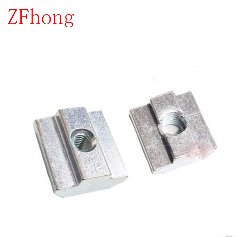 50pcs m3 m4 m5 m6 t sliding nut for 2020 aluminum profile slot 6 zinc coated plate aluminum. Black Bedroom Furniture Sets. Home Design Ideas