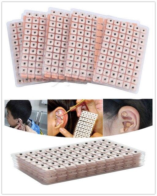 600 stücke Einweg Ohr Presse Samen Medizinische Vaccaria Bean Ohren Aufkleber Akupunktmassage Ohr Massage Aufkleber
