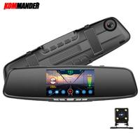 Kommander Car DVR 3 in 1 Mirror Camera GPS Radar Detector Auto Video Recorder Full HD 1080P Dash Camera Rear View Camera