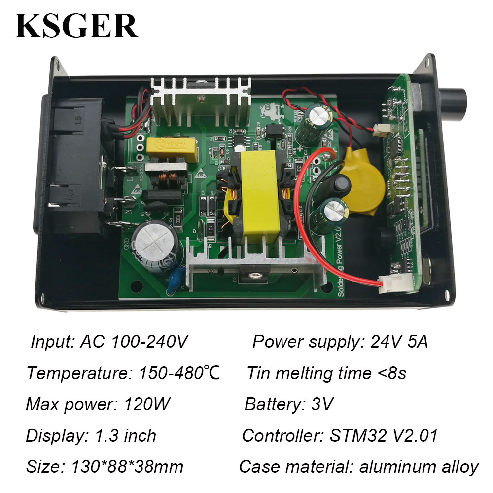 Image 4 - KSGER T12 Soldering Station Iron Tips STM32 V2.01 OLED DIY Kits FX9501 Handle Electric Tools Welding Tips Temperature ControllerElectric Soldering Irons   - AliExpress
