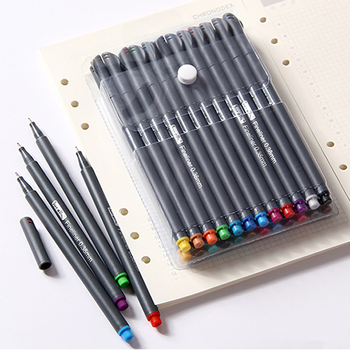 цена на 24 Colors 0.38mm Fine Tip Art Marker Pen Superfine Fineliner Pens Smooth Sketch Pen Art Supplies for Animation Manga Drawing