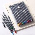 24 Colors 0.38mm Fine Tip Art Marker Pen Superfine Fineliner Pens Smooth Sketch Pen Art Supplies for Animation Manga Drawing