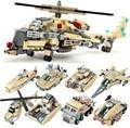 679 шт. Ultimate Военный Вертолет 8 шт. Военная модель Building Blocks Набор Военной Техники Кирпичи Игрушки Совместимость Legoe армии