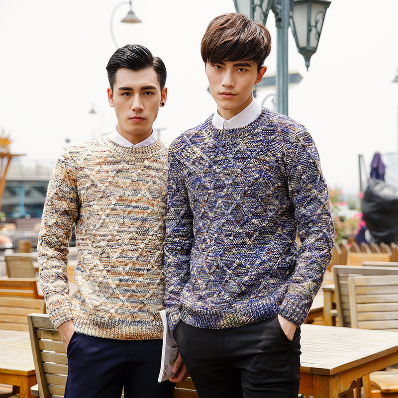 2017 Autumn Winter Men Sweaters and Pullovers O Neck Long Sleeve Casual christmas Sweater Knitted Cotton