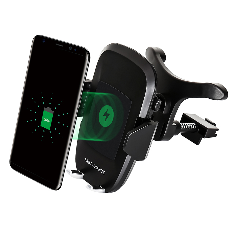 Fast Qi Wireless Charger Air Vent Car Phone Holder