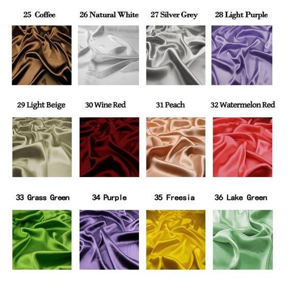 16MM 42 '' lățime, netedă de culoare solidă din mătase Stretch - Arte, meșteșuguri și cusut - Fotografie 4