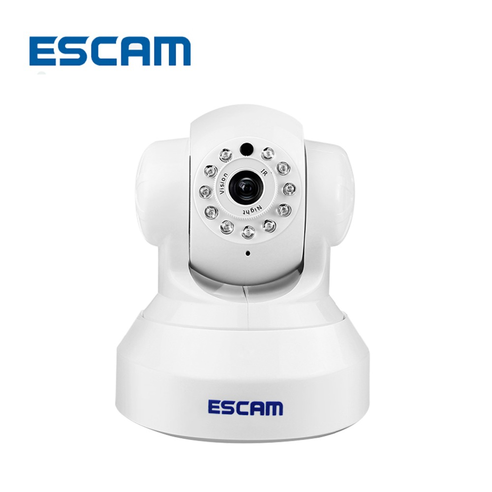 ESCAM Wireless 720P Pan/Tilt Wifi Security IP Camera QF001 Support 32G TF Card IR-CUT 10M Security Network Camera Night Vision escam hd 720p ir night vision ir cut 1 0mp wireless wifi ip camera pan tilt security mini indoor camera support 32g card qf001