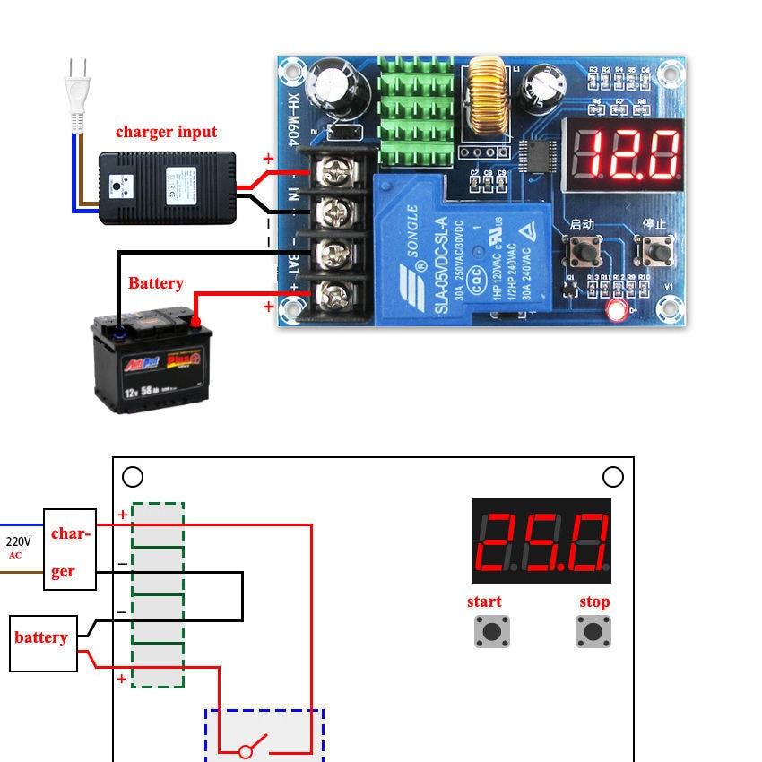 Dc V To V V V V Lead Acid Li Ion Battery Charger Control Charging Controller on Lead Acid Battery Charger Circuit