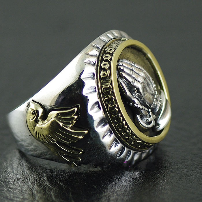 * imported from Thailand, authentic GV new prayer 925 Sterling Silver Thai silver ring.
