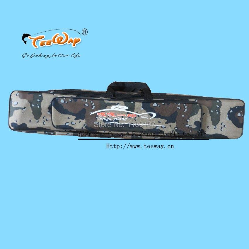 Prix pour De Pêche Sac 80 cm Canne À Pêche Sac Multifonctionnel Camouflage Double Couche Sac de Pêche En Plein Air