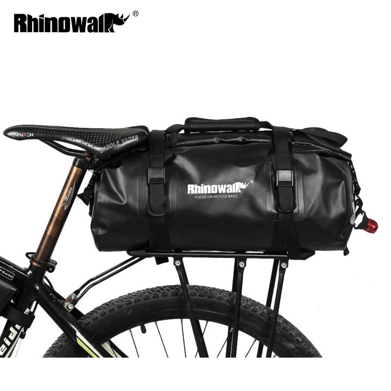 Rhinowalk Bicycle Luggage Bags 20L Full Waterproof for Road Bike Rear Rack Trunk Cycling Saddle Storage Pannier Multi Travel BagRhinowalk Bicycle Luggage Bags 20L Full Waterproof for Road Bike Rear Rack Trunk Cycling Saddle Storage Pannier Multi Travel Bag