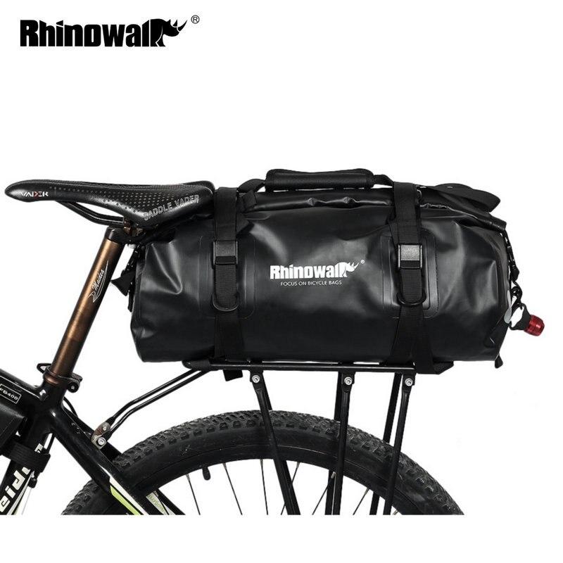 Rhinowalk Vélo Bagages Sacs 20L Plein Étanche pour Vélo De Route Arrière Trunk Rack selle de vélo Sacoche De Rangement Multi nouveau jouet