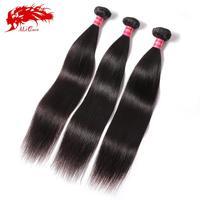 6A brazilian virgin hair straight 3 bundles human hair weave, Ali Queen Hair products virgin brazilian straight hair bundles