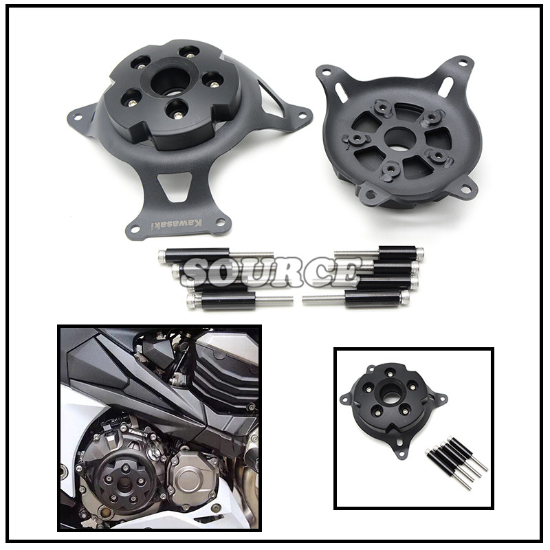 ФОТО Motorcycle Engine Protector Engine Stator Cove Protective Cover Left &Right Side For Kawasaki z750 2008 09 10 11 12 13 14 15-16